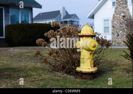 Fire hydrant Narragansett Rhode Island USA - Stock Photo