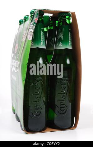 Carlsberg Low Alcohol Beer 6 pack. - Stock Photo