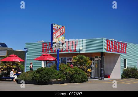 Kaikoura Bakery, Beach Road, Kaikoura, Canterbury, South Island, New Zealand - Stock Photo