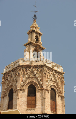 The Miguelete bell tower of Valencia Cathedral, Spain - Stock Photo