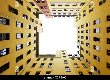 Courtyard of a city block in Mitte district, Berlin, Germany, Europe