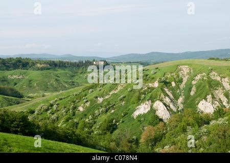 Crete senesi, Asciano, Siena province, Tuscany, Italy - Stock Photo