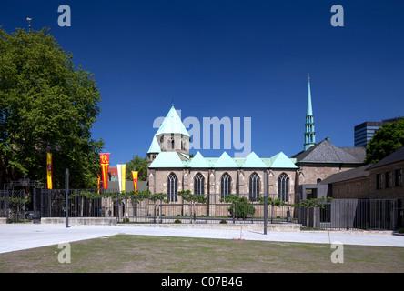 Essener Muenster, cathedral, Essen, Ruhrgebiet region, North Rhine-Westphalia, Germany, Europe - Stock Photo