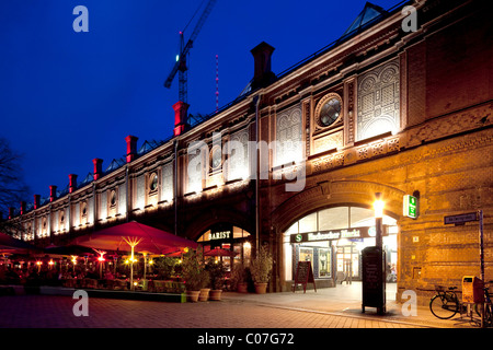 S-Bahn station Hackescher Markt, Mitte district, Berlin, Germany, Europe - Stock Photo