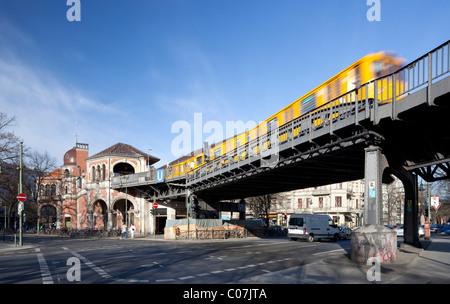 Schlesisches Tor station, Kreuzberg, Berlin, Germany, Europe - Stock Photo