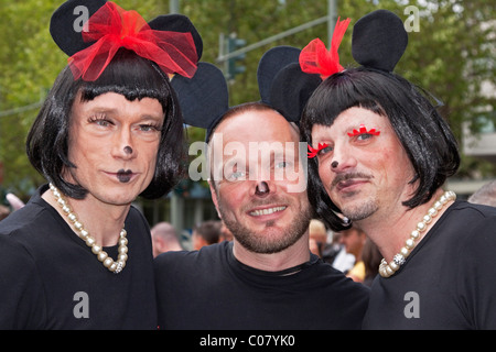Participants of the CSD, Christopher Street Day in Berlin on 19 June 2010, Germany, Europe - Stock Photo