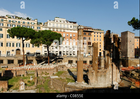 Area Sacra di Largo Argentina, Pigna, Rome, Italy, Europe - Stock Photo
