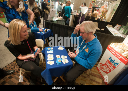 Bag-O-Loot, card game at the Toy Fair in the Jacob Javits Convention Center in New York - Stock Photo