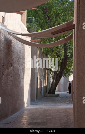 Street scene in Bastakia, Dubai, United Arab Emirates, Middle East - Stock Photo