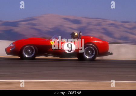 ... 1950u0027s Ferrari 250 TR Racing At Monterey Historic Races Laguna Seca  California 1990   Stock Photo