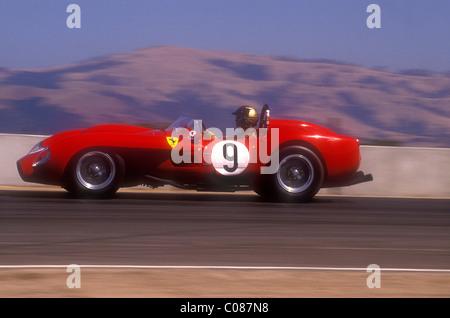 ... 1950u0027s Ferrari 250 TR Racing At Monterey Historic Races Laguna Seca  California 1990   Stock Photo