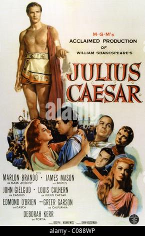 JULIUS CAESAR  Poster for 1953 MGM film with Marlon Brando, James Mason and Deborah Kerr - Stock Photo