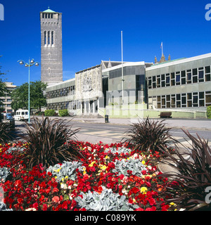 Plymouth Crown and County court buildings and Guildhall - Stock Photo
