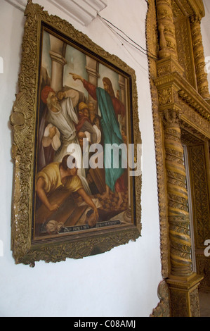 India, Goa, city of Old Goa. Portuguese basilica of Bom Jesus, the most famous of all churches in Old Goa. - Stock Photo