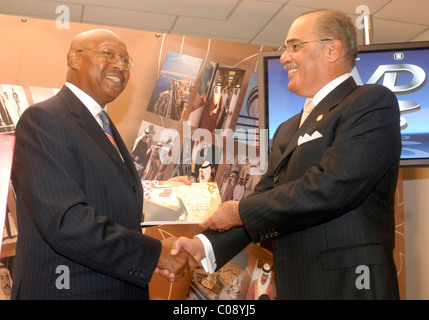 Alphonso Jackson, Secretary of U.S. Department of Housing and Urban Development and His Excellency Naser Al Belooshi, - Stock Photo