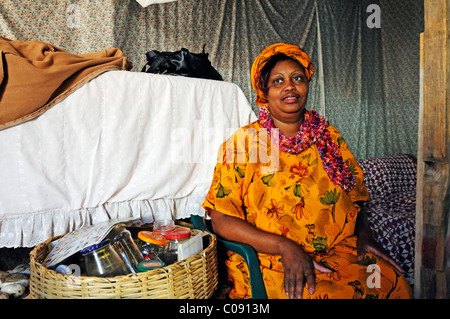 Healer and herbalist in the Mondesa township, Swakopmund town, Namibia, Africa - Stock Photo