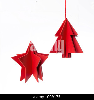 Simple red Christmas decorations - Stock Photo