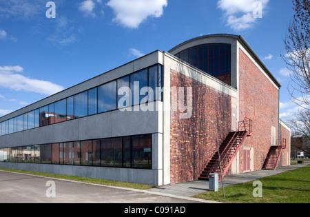 Airfield hangar of the former Johannisthal airport, Humboldt-Universitaet university, Wissenschaftsstadt Adlershof - Stock Photo