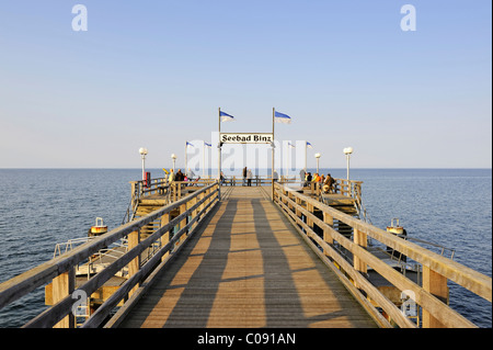 The pier at the Baltic resort Binz, Ruegen island, Mecklenburg-Western Pomerania, Germany, Europe - Stock Photo