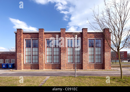 Hangar of the former Johannisthal airfield, Humboldt-University, Adlershof Science City, Berlin, Germany, Europe - Stock Photo