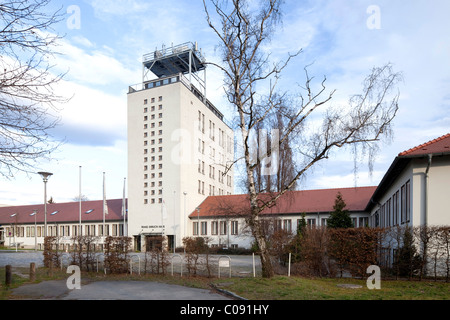 Television Centre Berlin-Adlershof, transmission tower, studio building, Deutscher Fernsehfunk, DFF - Stock Photo