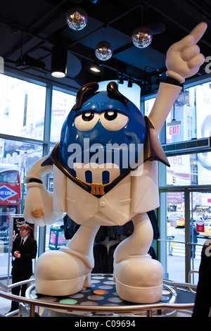 Advertising figure in the M & M's store on Times Square in Manhattan, New York City, New York, USA - Stock Photo