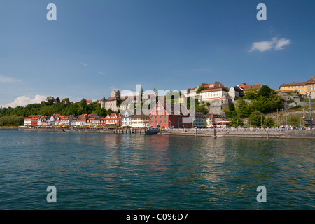 Historic old town of Meersburg on Lake Constance, Baden-Wuerttemberg, Germany, Europe - Stock Photo