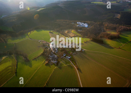 Aerial view, Koenigsfeld, Bergisches Land area, Ennepetal, Ruhrgebiet region, North Rhine-Westphalia, Germany, Europe - Stock Photo