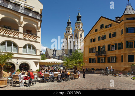 Dom Mariae Aufnahme in den Himmel und St. Kassian zu Brixen cathedral, old town, Brixen, South Tyrol, Italy, Europe - Stock Photo