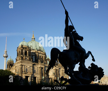 Berliner Dom cathedral at the Lustgarten park, Mitte district, Berlin, Germany, Europe - Stock Photo