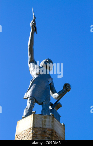 Vulcan Statue locted in Vulcan Park, Birmingham, Alabama, USA. - Stock Photo