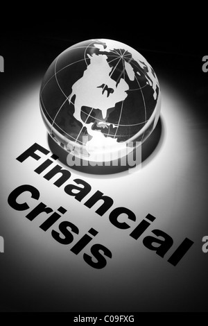 globe, concept of Financial Crisis - Stock Photo