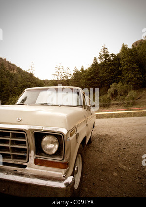 An old Ford F100 truck. - Stock Photo