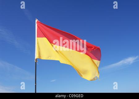 Beach Flag - John Gollop - Stock Photo