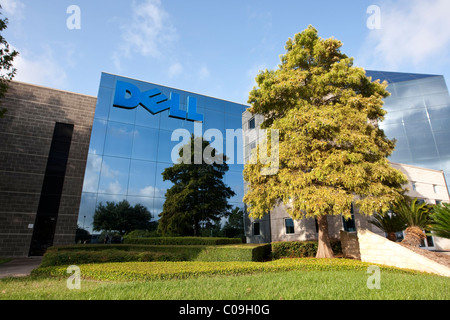 Corporate headquarters of Dell Inc., a mulitnational computer and information-technology company based in Round - Stock Photo