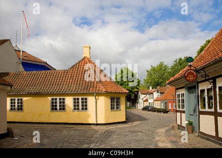 Hans Christian Andersen's childhood home in Odense, Denmark, Europe - Stock Photo