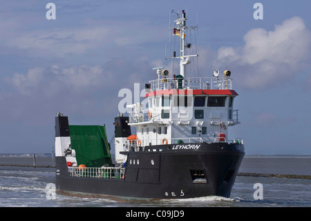 Multi-purpose vessel, Leyhoern, from the Lower Saxony Water Management, Coastal Defence and Nature Conservation - Stock Photo