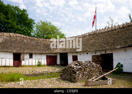 Old farm, the Funen Village open air museum, Odense, Denmark, Europe - Stock Photo