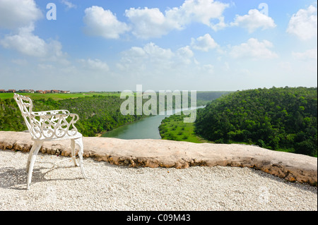 View from a terrace of the artist village of Altos de Chavon on the river Rio de Chavon, Dominican Republic, the - Stock Photo