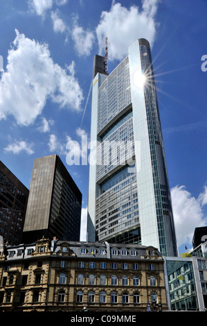 Commerzbank Tower, headquarters, Kaiserplatz, Financial District, Frankfurt am Main, Hesse, Germany, Europe - Stock Photo