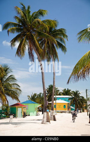 A colorful beach town in Belize. - Stock Photo