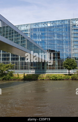 View of the European Parliament building, Strasbourg, France, Europe - Stock Photo