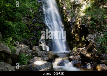 Todtnauer Wasserfall waterfalls in Todtnau in the Black Forest, Baden-Wuerttemberg Germany, Europe - Stock Photo