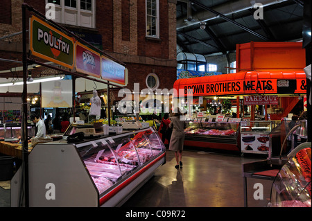 In the market hall of the St. Lawrence Market, Toronto, Ontario, Canada - Stock Photo
