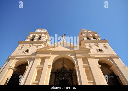 Facade of the Iglesia Catedral cathedral, on Plaza San Martin, Cordoba, Argentina, South America - Stock Photo