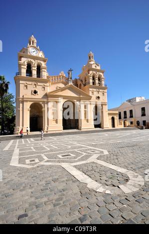 Iglesia Catedral cathedral, on Plaza San Martin, Cordoba, Argentina, South America - Stock Photo