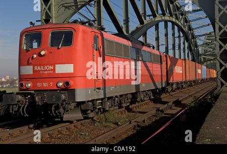 Freight train, Germany. - Stock Photo