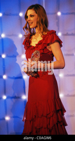 Paulina Nemcova Czech Lion Awards 2008.  Nemcova accepted the award for Best Actress on behalf of Marion Cotillard - Stock Photo