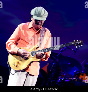 Carlos Santana  performing live on stage at The Joint inside The Hard Rock Hotel Casino  Las Vegas, Nevada - 11.11.09 - Stock Photo
