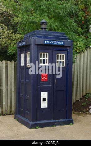 Part of a collection of vintage phone boxes at Avoncroft Museum, Bromsgrove, UK - Stock Photo